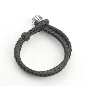 Leather bracelet with ball piece